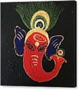 34 Ganadhakshya Ganesha Canvas Print
