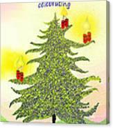 347 - A Christmas Card Canvas Print