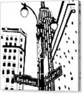 34th And Broadway Canvas Print