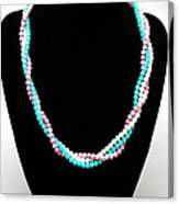 3584 Three Strand Twisted Shell Necklace Canvas Print