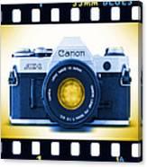 35mm Blues Canon Ae-1 Canvas Print