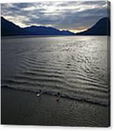 Feature - Bore Tide Surfing In Alaska Canvas Print