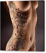 3716 Model Embyr's Black Rose Tattoo Poster by Chris Maher