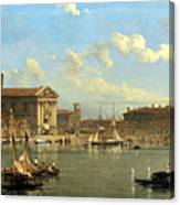 The Fontana Di S  Lucia In Naples Canvas Print