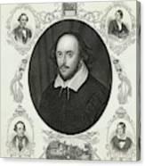 William Shakespeare (1564 - 1616) Canvas Print