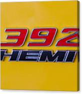 392 Hemi In Yellow Canvas Print