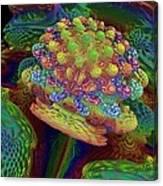 3d Amazing Flower Canvas Print