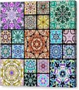 3d Cosmic Sample Grid Canvas Print