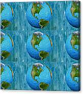 3d Render Of Planet Earth 1 Canvas Print