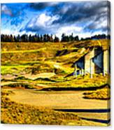 #18 At Chambers Bay Golf Course - Location Of The 2015 U.s. Open Tournament Canvas Print