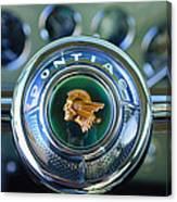1933 Pontiac Steering Wheel Emblem Canvas Print