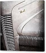 1940 Nash Sedan Grille Canvas Print