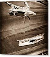 1955 Chevrolet Belair Hood Ornament Canvas Print