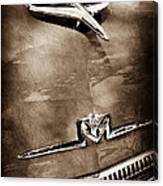 1956 Mercury Monterey Hood Ornament - Emblem Canvas Print