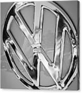 1959 Volkswagen Vw Panel Delivery Van Emblem Canvas Print