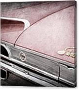 1960 Ford Galaxie Starliner Taillight Emblem Canvas Print