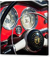 1961 Alfa Romeo Giulietta Spider Steering Wheel Emblem -1239c Canvas Print