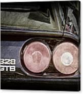 1989 Ferrari 328gtb Taillight Emblem Canvas Print