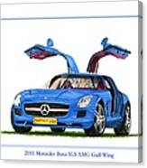 2010 Mercedes Benz S L S Gull-wing Canvas Print
