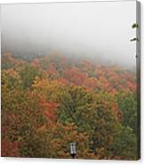 A Foggy Autumn Day At The United States Military Academy At West Canvas Print