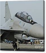 A Sukhoi Su-30mkm Of The Royal Canvas Print