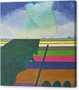 Aan Het Biljart Canvas Print