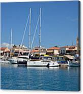 Aegina Port Canvas Print