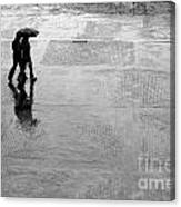 Alone In The Rain Canvas Print