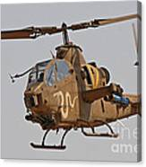 An Ah-1s Tzefa Attack Helicopter Canvas Print