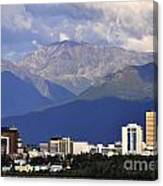 Anchorage Skyline Canvas Print