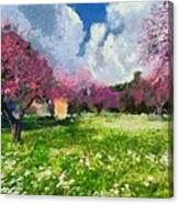 Ancient Olympia During Springtime Canvas Print