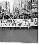 Anti Vietnam War Demonstration Canvas Print