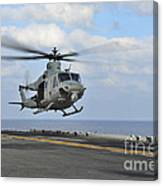 Aviation Boatswains Mate Directs Canvas Print