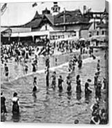 Bathers At Coney Island Canvas Print