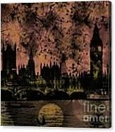 Big Ben On The River Thames Canvas Print