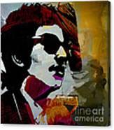 Bob Dylan Recording Session Canvas Print