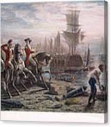 Boston: Evacuation, 1776 Canvas Print
