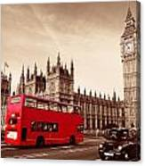 Bus In London Canvas Print
