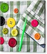Buttons Canvas Print
