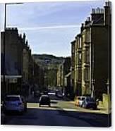 Car In A Queue Waiting For A Signal In Edinburgh Canvas Print