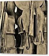 4 Cellos Sepia Canvas Print