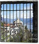 Church Madonna Del Sasso Canvas Print