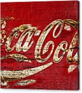 Coca Cola Sign Cracked Paint Canvas Print