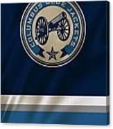 Columbus Blue Jackets Uniform Canvas Print