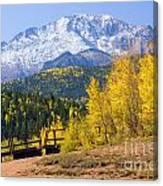 Crystal Lake On Pikes Peak Canvas Print