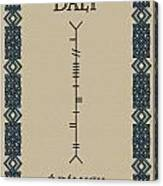 Daly Written In Ogham Canvas Print