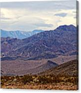 Death Valley Mountains Canvas Print