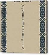 Dempsey Written In Ogham Canvas Print