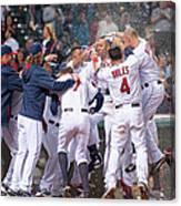 Detroit Tigers V Cleveland Indians 4 Canvas Print