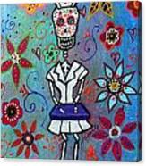 Dia De Los Muertos Nurse Canvas Print